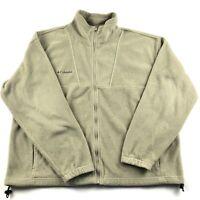 Columbia Mens Full Zip Fleece Long Sleeve Jacket XL Gray W/ Pockets