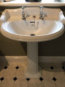 Lefroy Brooks classic basin and pedestal