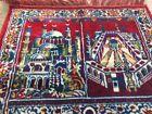 Middle East prayer rug 100% silk handmade from 1970
