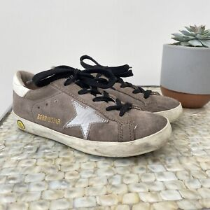 Golden goose Size 30 UK 12 grey suede casual silver star skater trainers kids