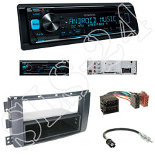 KENWOOD kdc-300uv radio + smart fortwo (br451) cache NOIR + ISO adaptateur set