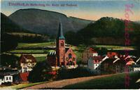 AK Dzietrzychów (Dittersbach)Schles.Krs. Waldenburg,Ev. Kirche mit Rathaus,22/03