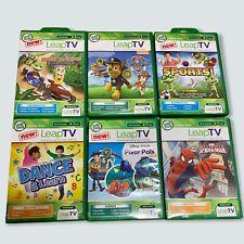 LeapFrog LeapTV Lot Of 6 Games Paw Patrol, Pixar Pals, Ultimate SpiderMan & More
