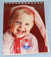 Vintage 1968 Hallmark Tiny Tots Spiral Wall Engagement Calendar Cute Baby Photos
