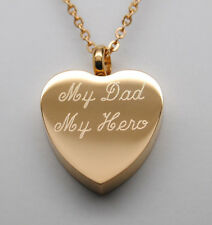 MY DAD MY HERO CREMATION URN NECKLACE GOLD DAD CREMATION JEWELRY MEMORIAL URNS