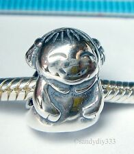 1x OXIDIZED STERLING SILVER GIRL DOLL SPACER BEAD EUROPEAN CHARM BRACELET #1220