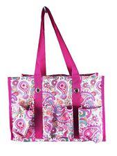 NEW Thirty One Organizing Utility tote mummy shoulder Bag 31 GIFT Pink Paisley b
