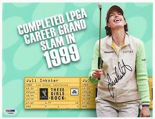 Juli Inkster Lpga Golfer signed 8x10 photo Psa/Dna #E19449