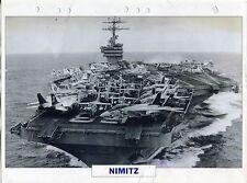 PHOTO BATEAU MILITAIRE 1972 AMERICAIN NIMITZ PORTE AERONEFS NUCLEAIRE