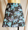 "Mini skirt 15"" BLACK or Hawaiian size S UK 10 thicker material winter/summer new"