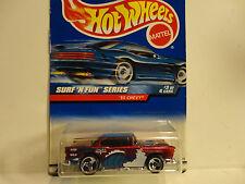 Hot Wheels #963 Red '55 Chevy w/3 Spoke Wheels w/NO '55 Chevy on Base