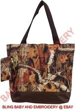 Tote Bag Purse Shopper Mossy Oak Camouflage Camo Embroidery Rhinestone Option