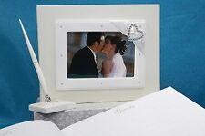 Diamante Heart wedding Guestbook