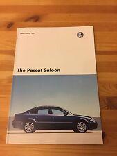 VW Passat Brochure, UK Car, 2004, 4.0 W8 + V6 + + V5 + TDi, 4Motion, Collectors