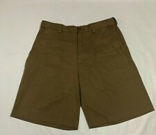 IZOD Performx Flat Front Brown Short Men's Size 32 100% Polyester FREE SHIPPING
