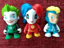 Kidrobot Dc Comics Mini Series HARLEY QUINN JOKER ANIMAL MAN Vinyl Figure bundle