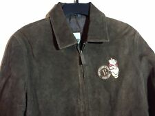 The Disney Store Winnie the POOH Brown Size Medium Leather Coat Bomber Jacket