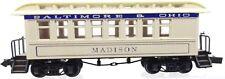 N Roundhouse 8501 34' Overton Baltimore & Ohio Passenger Coach Madison