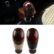 Car Manual 5 Speed Gear Stick Shift Knob Cover Handle Shifter Lever Mahogany