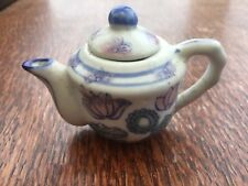 MINATURE TEA POT - hand painted, really cute for sideboard display or shelves