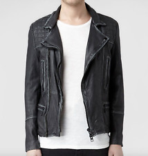 Allsaints mens Cargo Leather Jacket Black/ Grey. Small *2