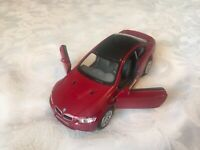 KINSMART 1:36 BMW M3 COUPE RED DIECAST MODEL CAR OPENING DOORS PULLBACK
