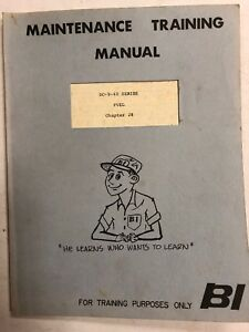 Braniff Intl. DC-8-60 Maintenace Training Manual Fuel Chapter 28 1967 Original