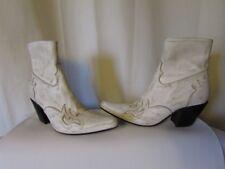 boots/bottines free lance cuir vieilli blanc pointure 36