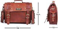GVB Men's Genuine Vintage Waxed Leather Messenger Shoulder Laptop Bag computer
