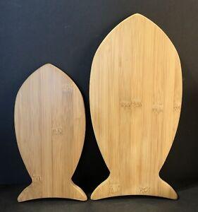 Fun 2-Piece Bamboo Fish Cutting Board Set