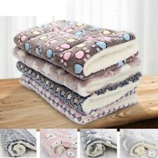 Pet Soft Fleece Pad Flannel Thickened Blanket Bed Mat For Puppy Dog Cat Cushion