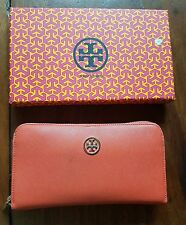 TORY BURCH WOMENS LONG WALLET, ORANGE