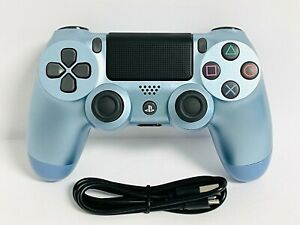 Titanium Blue Wireless DualShock PS4 Controller for PlayStation 4 + USB
