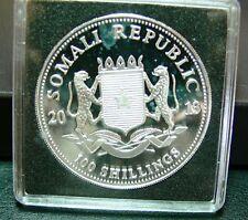 Somalia Elefant Silbermünze 100 Shillings 2013 PP in Kapsel