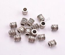 Tibetan Silver Big Hole Spacer Beads Jewelry Findings 6.5x5MM BE3028