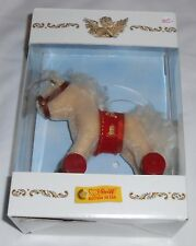STEIFF NORTH AMERICAN HORSE CHRISTMAS ORNAMENT EXCLUSIVE WHITE TAG