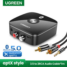 Ugreen Wireless Bluetooth Receiver 5.0 aptX LL RCA 3.5mm Jack Aux Audio Adapter