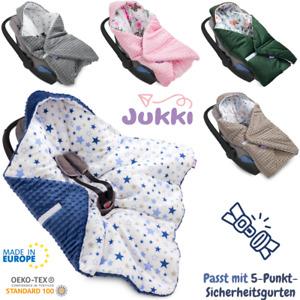 Babydecke mit Kapuze EINSCHLAGDECKE 90x90 cm Babyschale Kinderwagen Decke ⭐ EU ⭐