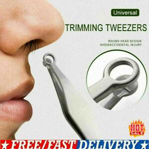 Stainless Steel Universal Nose Hair Trimming Tweezers Eyebrow Nose Hair Cut 2021