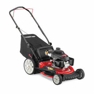 """Troy-Bilt TB160 21"""" Honda 160 cc Gas Walk Behind Push Mower w/ High Rear Wheels"""