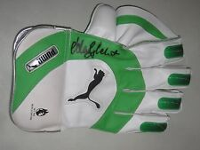 Adam Gilchrist (Australia) signed Puma Wicketkeeping Glove (Green/White) + COA