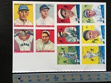 1933/34 GOUDEY 1978 REPRINT BASEBALL CARDS UNCUT SHEET 10 GEHRIG/DEAN/FOXX 21919