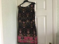 WALLIS PETITE size 18 black multi coloured dress