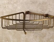 Bathroom Retro Brass Corner Shower Wasl Basket Shelves Caddy Storage qba078