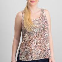 NWT Stitch Fix Chloe Oliver Animal Print Sleeveless Swing Tank Top Oversized L