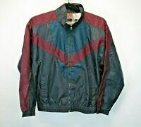 Vintage Weekend Gear Men's Medium Gray, Maroon, & Green Track Jacket NWT