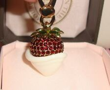 New Juicy Couture Strawberry & Cream Charm For Bracelet, Necklace