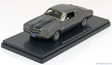 1:43 Ertl/Auto World Chevrolet Chevelle SS454 1970 greymetallic/black