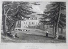 OFFCHURCH MANOR WARWICKSHIRE  engraving by W RADCLYFFE  DRAWN BY J P NEALE 1830