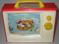 Fisher Price 1966 Giant Screen ~ Music Box Television #114 **WORKS**